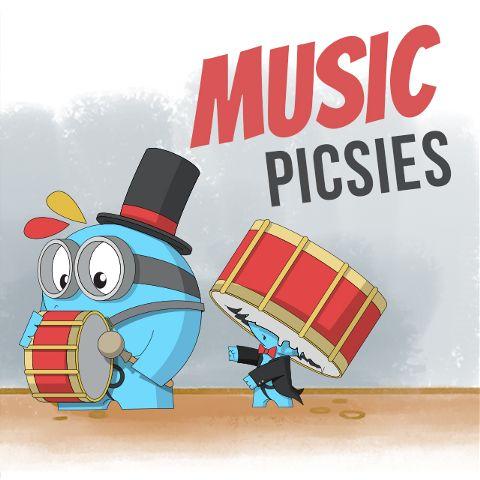music piscies clipart