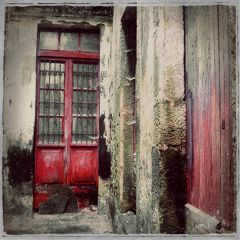 door red retro vintage oldphoto