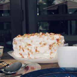ceramics cake baking nuts butterscotch