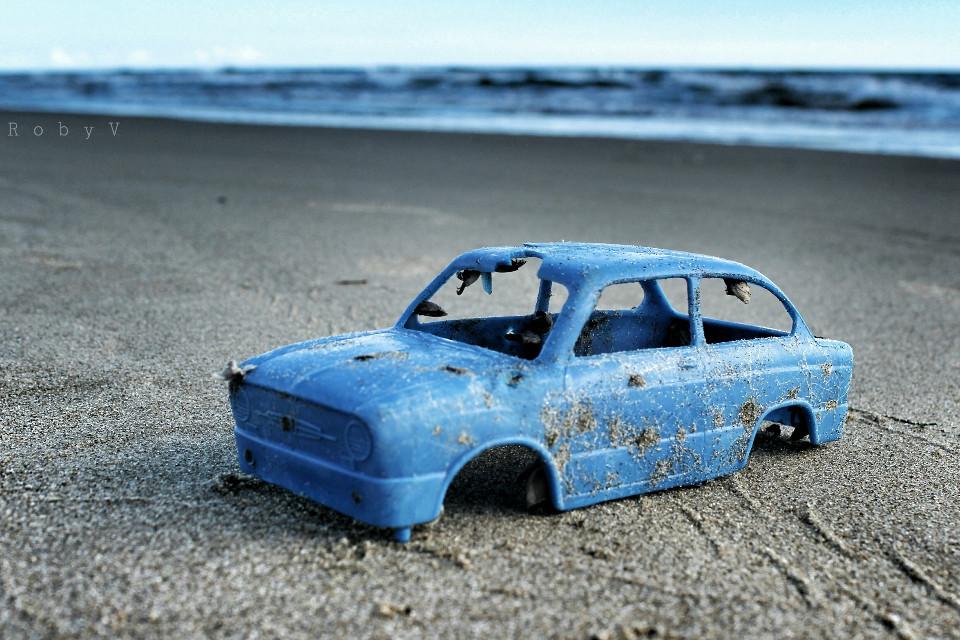 Parking II #toys #cars #broken #hdr #photography  #emotions #cute #vintage #sand #summer #seaside #love #freetoedit #blue
