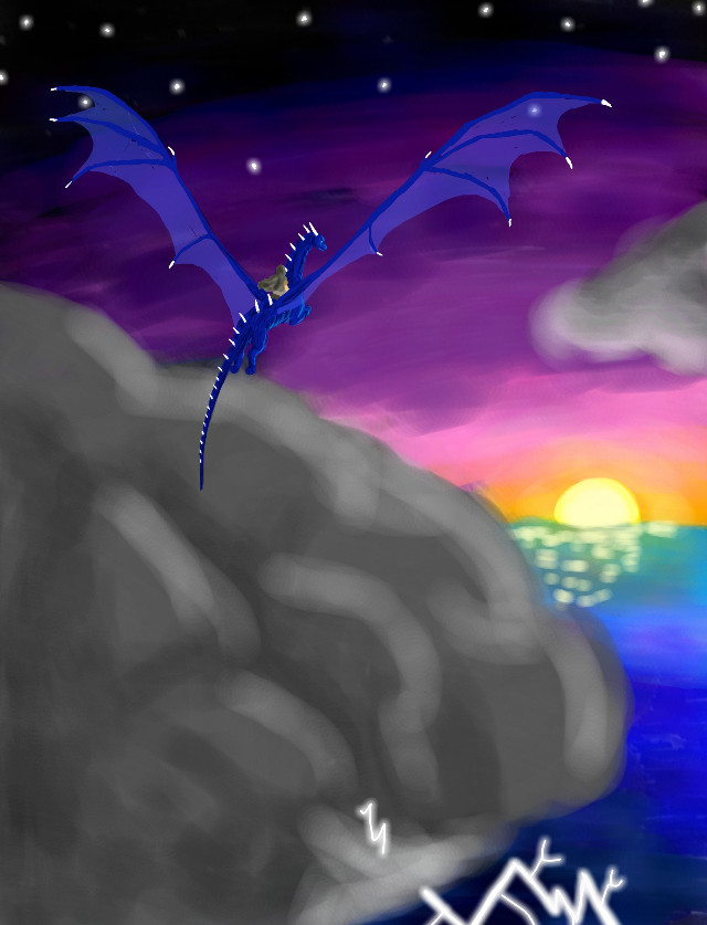 #DCHorizon. My inspiration was the scene in the book Inheritance (The fourth in the Eragon series) when Eragon and Saphira learn that the only thing more powerful and awe-inspiring than a dragon is nature.