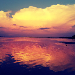 deserted island twilight ocean nature