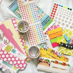 supplies colorful cute kawaii
