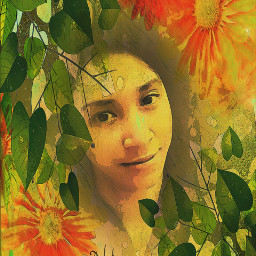 drawing beauty flower leaf painting colorful selfpotrait