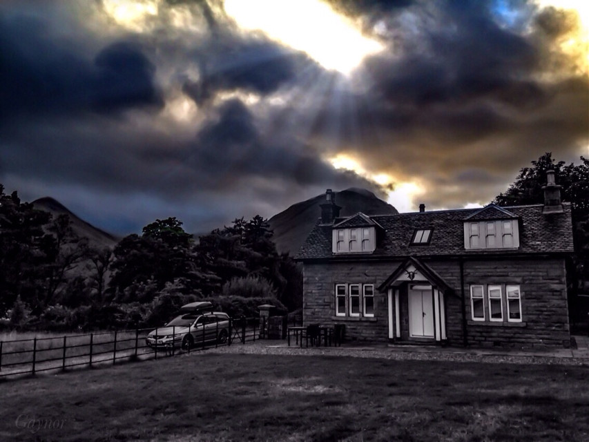 #colorsplash the Gate Lodge.  #travel  #scotland should have moved my car though.