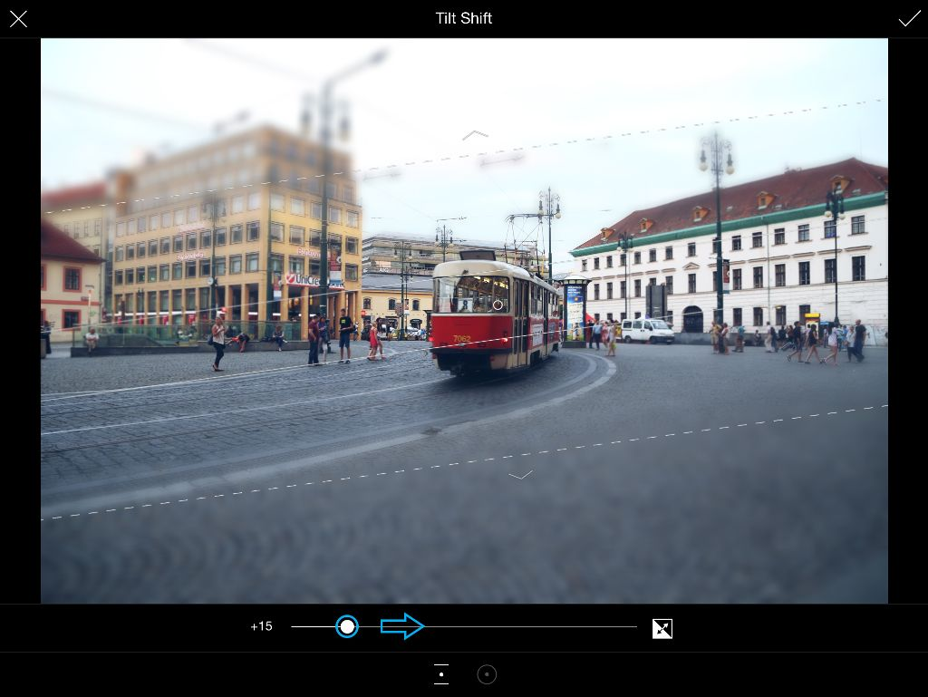 how to adjust tilt shift blur